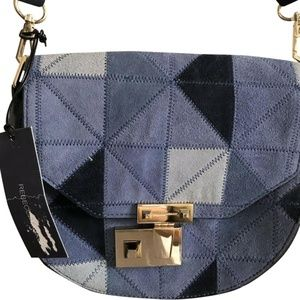 New W/ Tags!! REBECCA MINKOFF Suede Patches Crossb